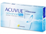 Лещи за очи Johnson and Johnson. Онлайн оптика - Acuvue Advance PLUS (6 лещи)