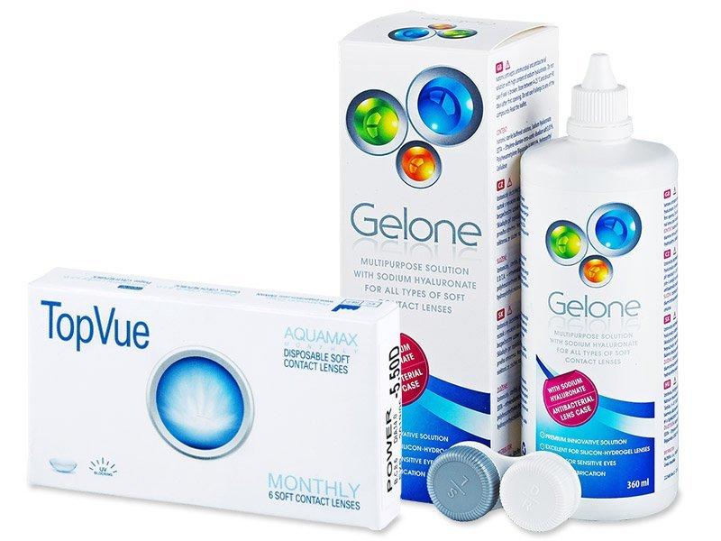 TopVue Monthly (6лещи) + разтвор Gelone 360 мл. - Пакет на оферта