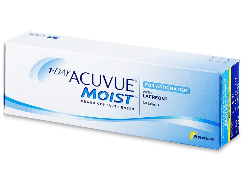1 Day Acuvue Moist for Astigmatism (30лещи) - Торични лещи