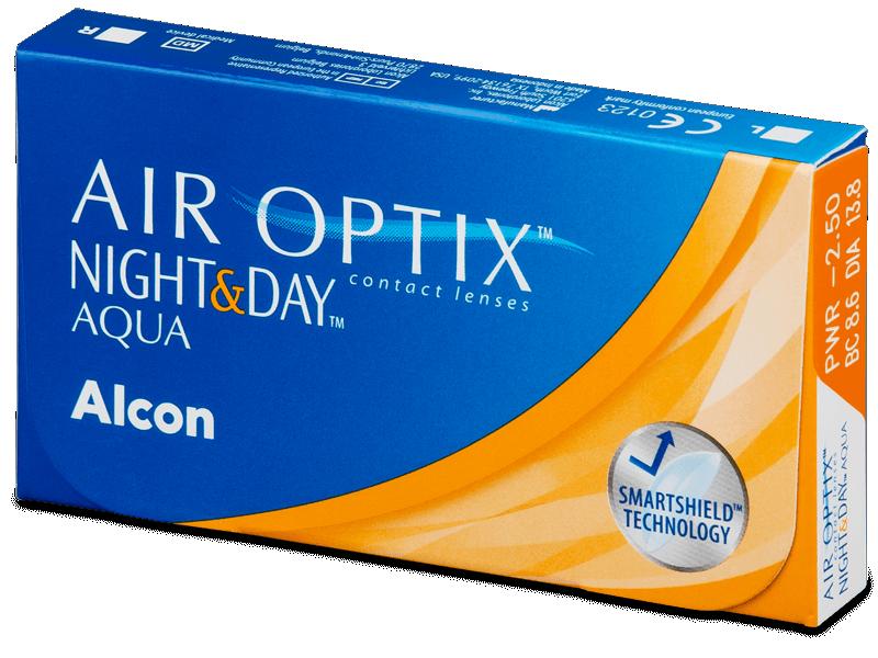 Air Optix Night and Day Aqua (6лещи) - Месечни контактни лещи