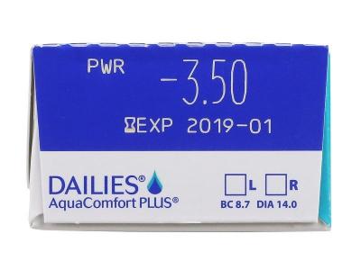 Dailies AquaComfort Plus (1 леща) - Преглед на параметри